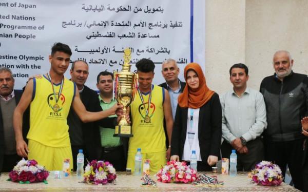 اتحاد بيت حانون الرياضي ينتزع كأس بطولة كرة الطائرة الشاطئية للشباب