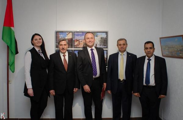 إفتتاح المعرض الفلسطيني للصناعات اليدوية في المتحف الفني لجامعة الثقافة البيلاروسية