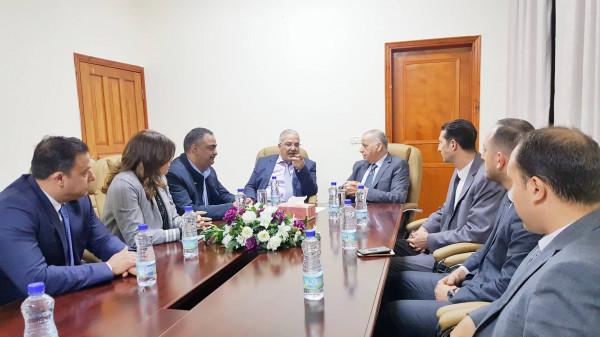 وزير النقل يبحث مع رئيس مجلس القضاء الأعلى سبل التعاون المشترك