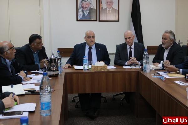 """وزير العمل أبو جيش يبحث المستجدات المتعلقة""""بالمؤتمر الوطني الرابع للسلامة والصحة المهنية"""""""