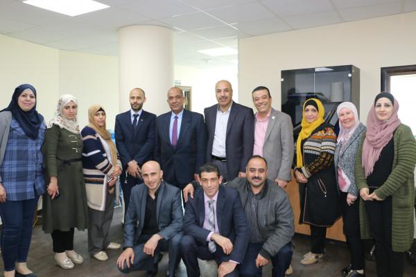 وزير العدل ينظم زيارة تفقدية لمكتب الوزارة في نابلس