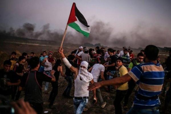 """""""الجمعة الـ 55 لمسيرات العودة"""".. إصابات برصاص الاحتلال شرقي قطاع غزة"""