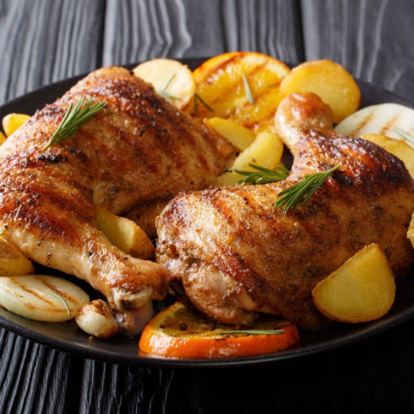 صينية دجاج وبطاطس بالفرن