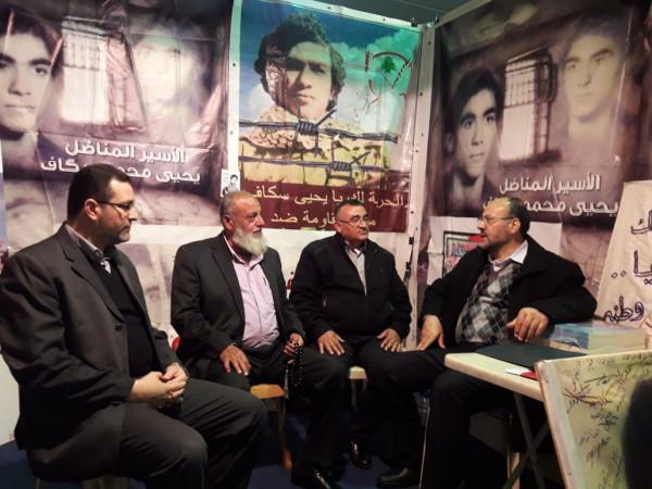 وفد قيادي من حركة حماس يزور جناح الأسير يحيى سكاف في طرابلس