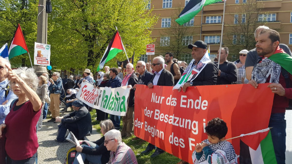 حضور فلسطيني بارز في مسيرة عيد الفصح المجيد للسلام ببرلين