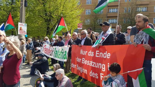 خلال مسيرة للسلام.. الجالية الفلسطينية في برلين تطالب بإنهاء الاحتلال