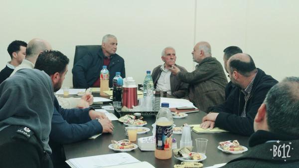 اللجنة الاقليمية للتنظيم والتخطيط العمراني في محافظة قلقيلية تعقد جلستها