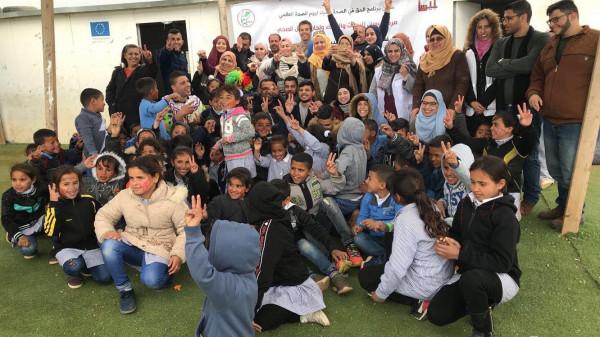 مركز بيسان ولجان العمل الصحي ينظمان فعاليات تضامنية في مدرسة أبو نوار