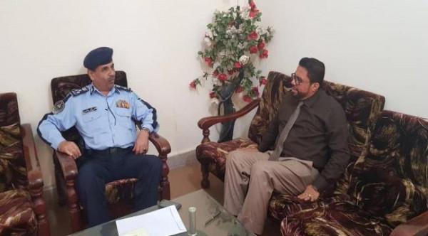 نائب وزير الاعلام ومدير عام شرطة السير يناقشان فعاليات أسبوع المرور العربي