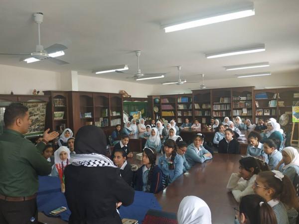 شبيبة قلقيلية تنظم محاضرة عن الحركة الاسيرة في مدرسة يوسف عودة