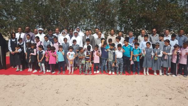 طلبة مدرسة جزيرة أبو موسى يحيون العادات التراثية باحتفال حق الليلة