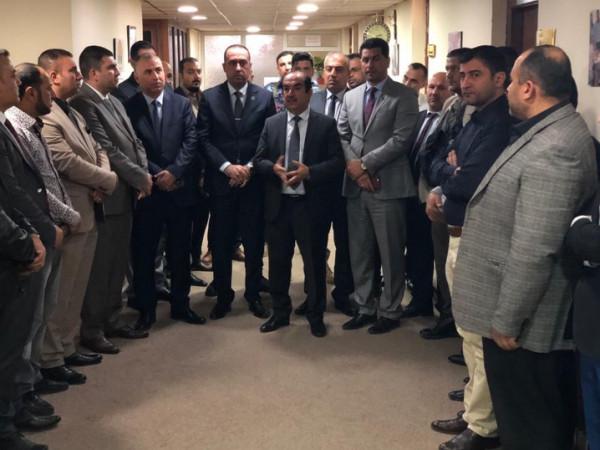 وفد مجلس المفوضين في مفوضية الانتخابات يزور مكتب انتخابات كركوك