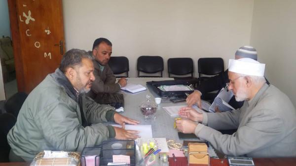 الأسطل يستقبل رئيس بلدية الشوكة برفح
