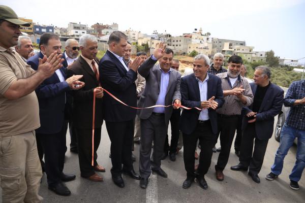 بلدية قلقيلية تشارك في افتتاح الطريق الواصل بين النبي الياس وجيوس