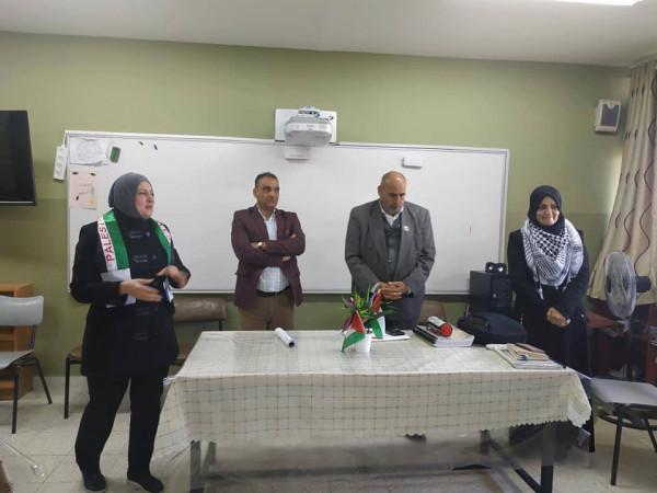 الشبيبة تنظم محاضرة عن الاسرى في مدرسة بنات راس عطية الثانوية