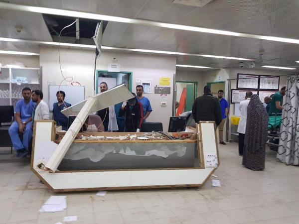بالصور: الاعتداء على قسم الطوارئ بمستشفى الخليل الحكومي ووزيرة الصحة تعلّق