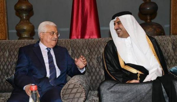تجاوب قطري مع وفد فلسطيني رفيع المستوى بـ (480) مليون دولار..والرئيس عباس يُثمن