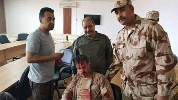 شاهد: إسقاط طائرة حربية لحكومة الوفاق جنوب طرابلس والقبض على قائدها