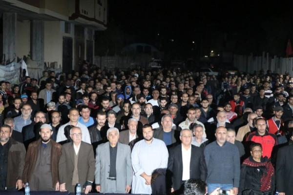 الشعبية تؤبن شهداء عائلة أبو الجديان شمال قطاع غزة