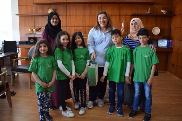 الرعاية تعايد مدارس صيدا بمناسبة حلول شهر رمضان المبارك