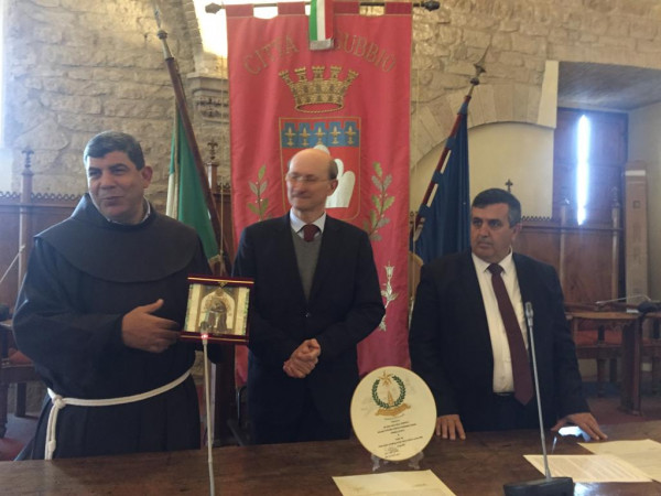 بلديتا بيت لحم وجوبيو الإيطالية توقعان على اتفاقية صداقة
