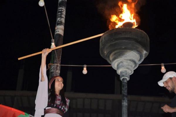 الاحتفال بايقاد شعلة فعاليات النكبة في مخيم الدهيشة تزامناً مع حيفا