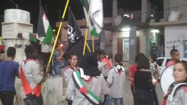 مسيرة شموع إحياءً للذكرى 71 للنكبة في مخيم عقبة جبر