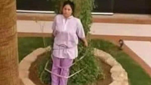 عائلة ثرية تربط خادمة فلبينية في شجرة
