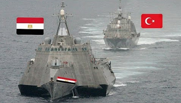 سيناريو محتمل للمواجهة العسكرية ما بين مصر وتركيا في البحر