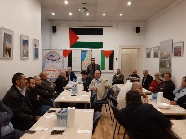 المؤسسات والجمعيّات الفلسطينيّة والعربيّة في برلين تناقش التّحدّيات الّتي تتعرّض لها القضيّة