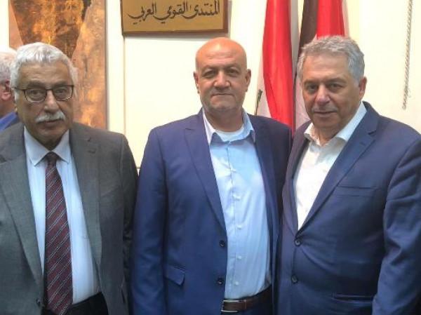 """تكريم  عضو اللجنة المركزية لـ """"جبهة التحرير الفلسطينية"""" محمد اليوسف"""