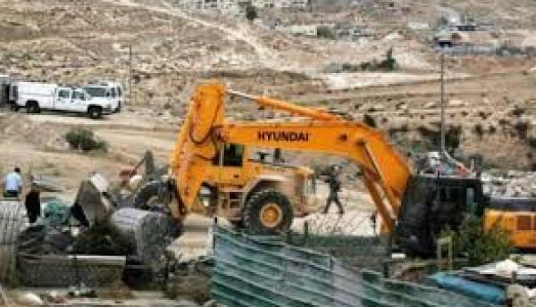 الاحتلال يهدم خيمة سكنية بمسافر يطا جنوب الخليل