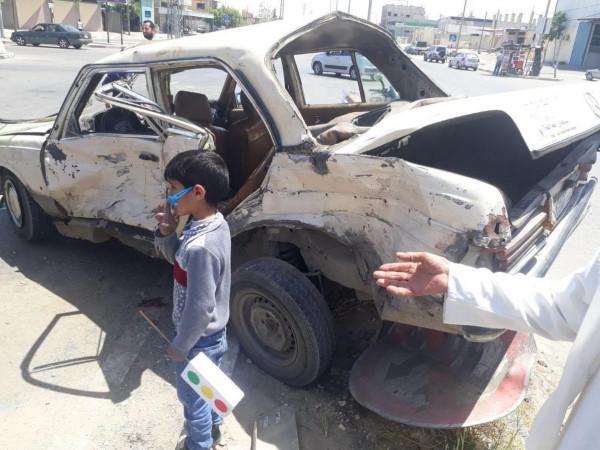 وفاة سيدة وثلاث إصابات في حادث سير مروع في (شارع صلاح الدين) برفح