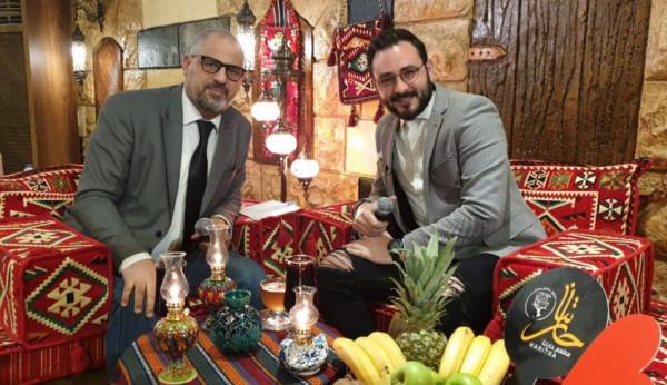 هادي ضو ينثر البهجة في إفطار مع ستار مع الإعلامي زكريا فحام