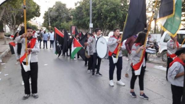 اللجنة الوطنية لإحياء الذكرى71 للنكبة تنظم مسيرة كشفية بأريحا