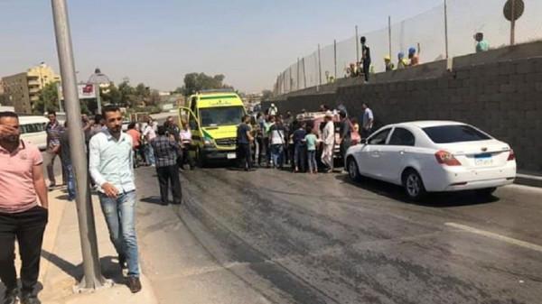 شاهد: إصابة 17 شخصا بانفجار حافلة سياحية بالقرب من المتحف الكبير بالقاهرة