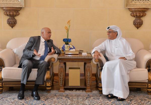 سلمان بن إبراهيم يُؤكد للرجوب دعم الاتحاد الآسيوي للكرة الفلسطينية