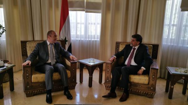 عبد الهادي يبحث مع وزير سوري تعزيز الترويج السياحي بين فلسطين ودمشق