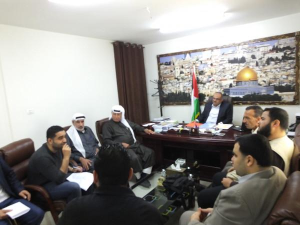 وزارة الأشغال تستقبل وفدا من وجهاء ومخاتير حي الشجاعية