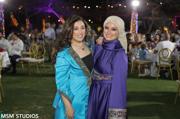 وفاء عامر وخالد زكي ومصطفى قمر بحفل افطار لمياء فهمي عبد الحميد