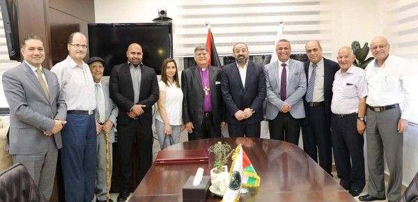 النائب العام يلتقي وفداً من الإرسالية المعمدانية في القدس