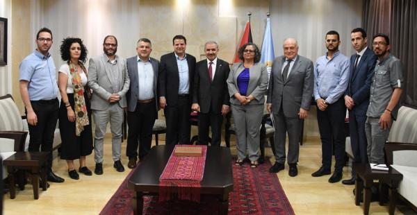 كتلة الجبهة تلتقي رئيس الوزراء الفلسطيني