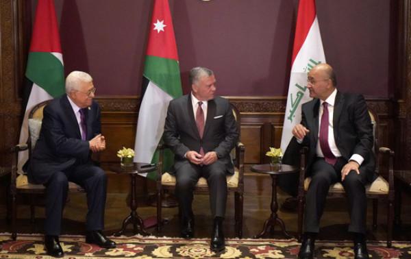 قمة ثلاثية تجمع الرئيس عباس والعاهل الأردني والرئيس العراقي في عمّان
