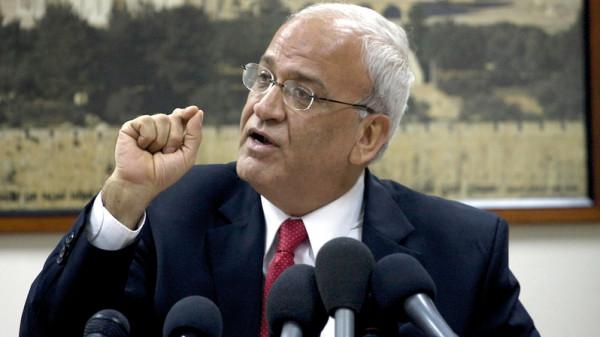 """عريقات لـ""""غرينبلات"""": هل هناك عروض أخرى قام الشعب الفلسطيني برفضها"""