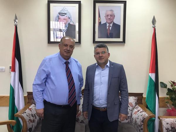 النائب جبارين يلتقي بوزير التعليم الفلسطيني د. أبو مويس للتباحث بقضايا الطلاب