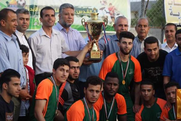 مركز شباب خربة العدس برفح يختتم البطولة الرمضانية الثالثة لكرة القدم