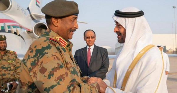 ولي عهد أبوظبي يلتقي رئيس المجلس العسكري الحاكم السوداني