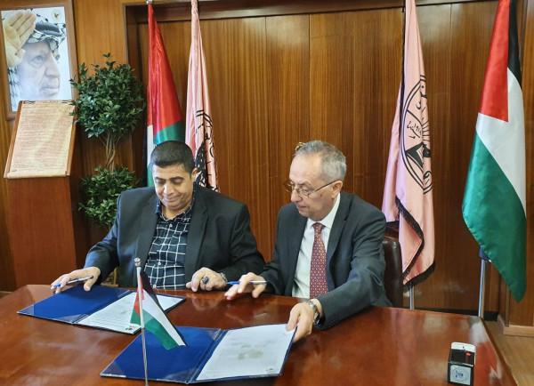 اللجنة القطرية توقع اتفاقية لدعم الطلبة المقدسيين في جامعة النجاح الوطنية