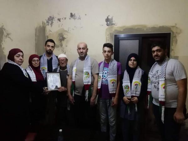 التجمع الفلسطيني للوطن والشتات يزور عوائل شهداء الثورة الفلسطينية في صيدا