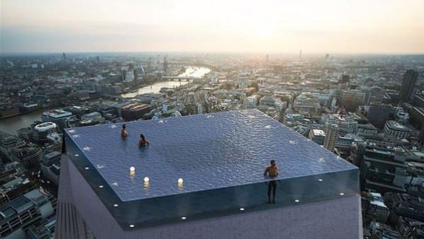 ليس له مثيل.. أول حمام سباحة في العالم بزاوية 360 درجة